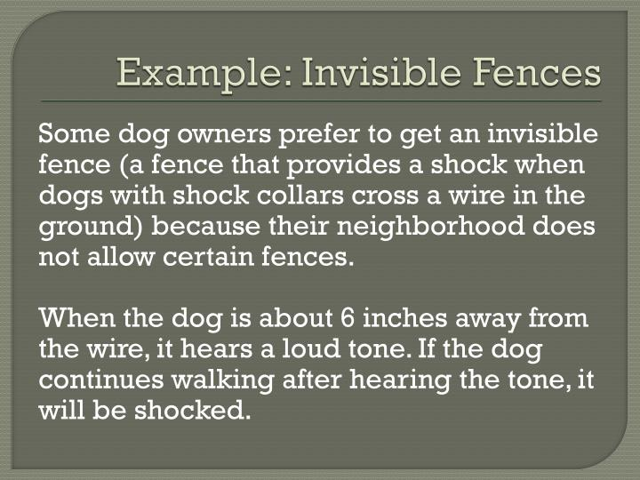 Example: Invisible Fences