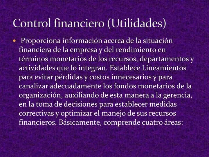 Control financiero (Utilidades)