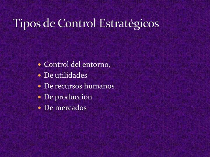Tipos de Control Estratégicos