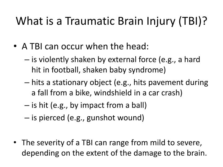 What is a Traumatic Brain Injury (TBI)?