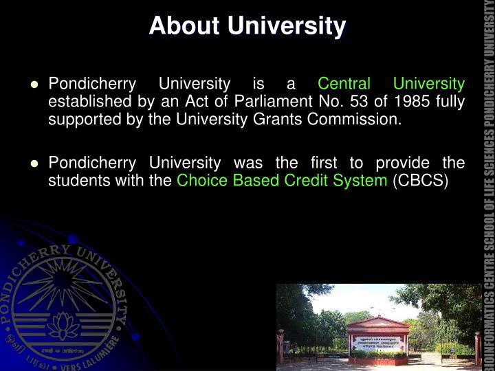 About University
