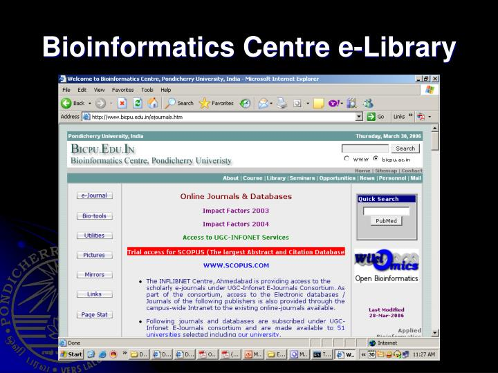 Bioinformatics Centre e-Library