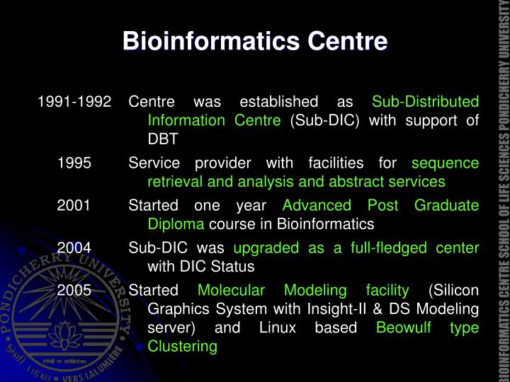 Bioinformatics Centre