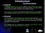 infrastructure communication