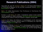 research publications 2004