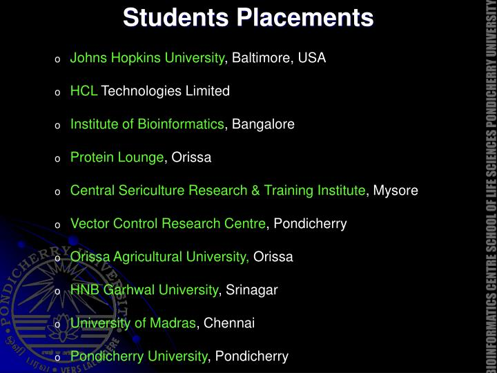 Students Placements