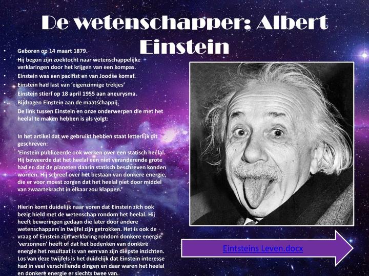 De wetenschapper; Albert