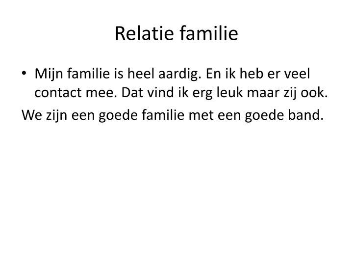 Relatie familie