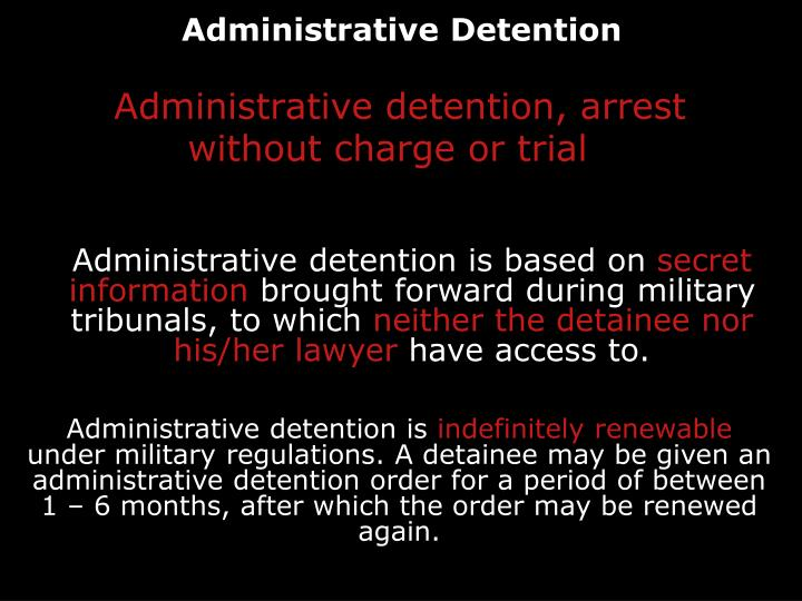 Administrative Detention