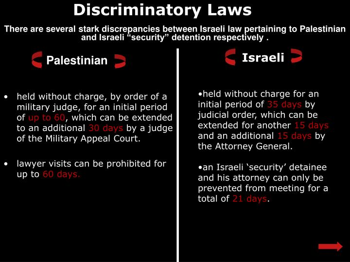 Discriminatory Laws
