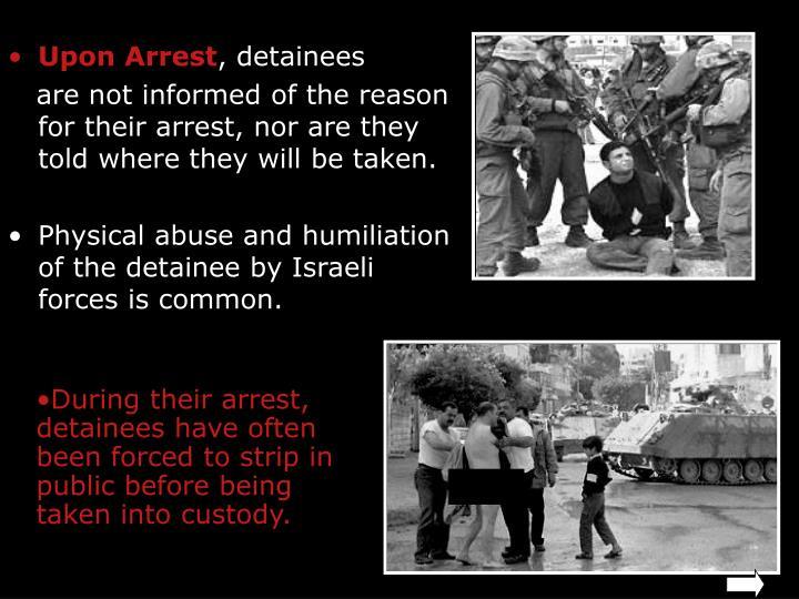 Upon Arrest