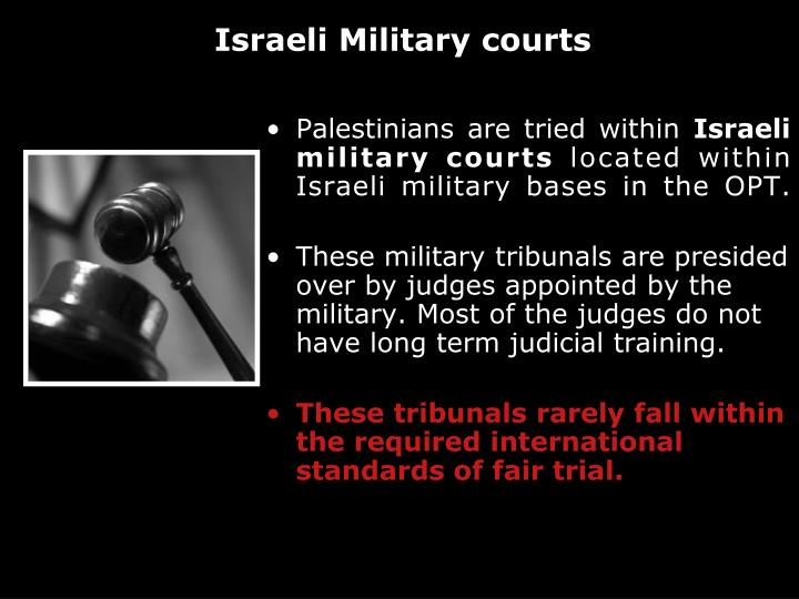 Palestinians are tried within
