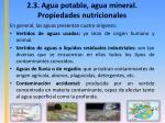 2 3 agua potable agua mineral propiedades nutricionales2