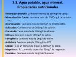 2 3 agua potable agua mineral propiedades nutricionales7