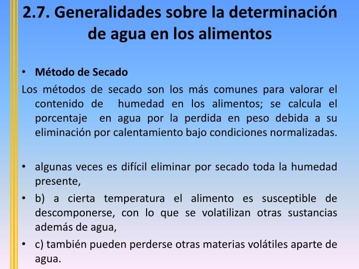 2.7. Generalidades
