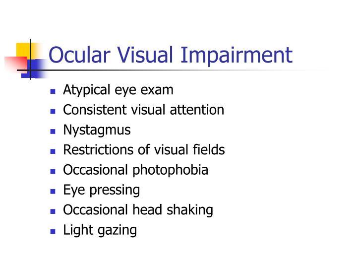 Ocular Visual Impairment