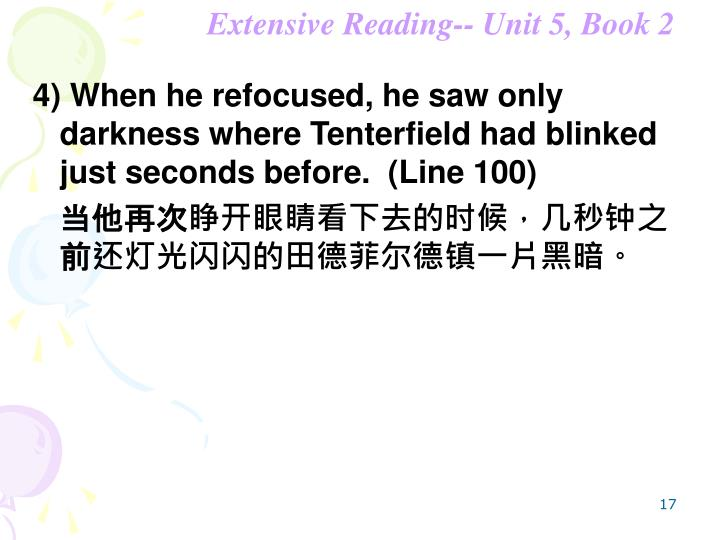 Extensive Reading-- Unit 5, Book 2