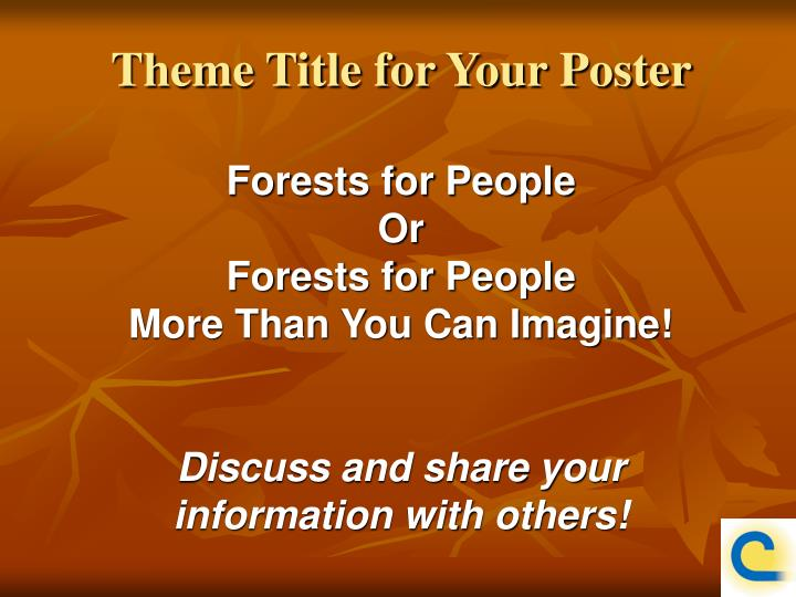Theme Title for Your Poster