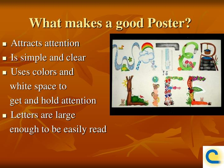 What makes a good Poster?