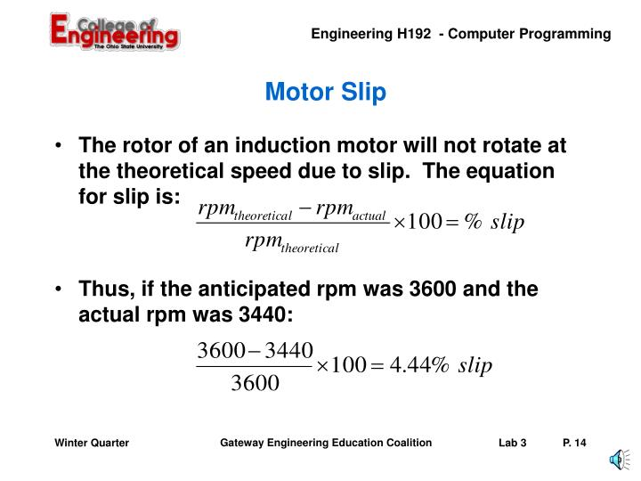 Motor Slip