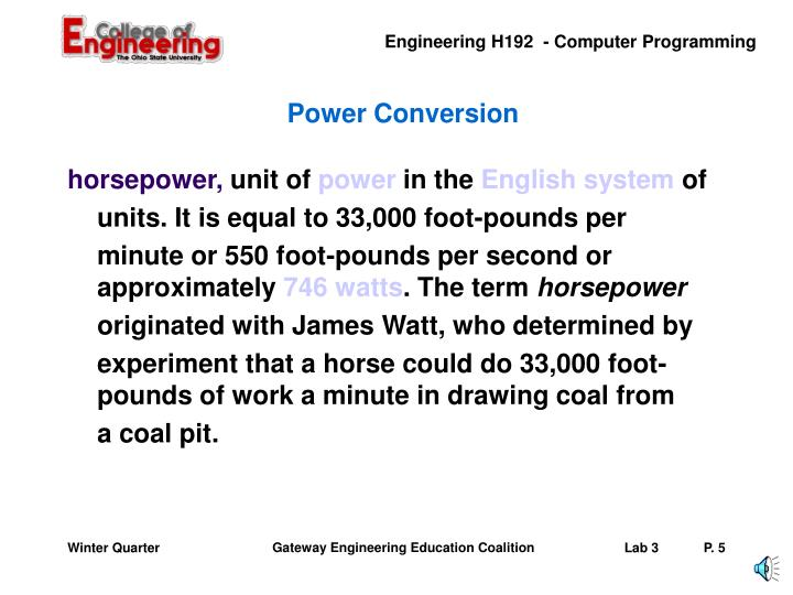 Power Conversion