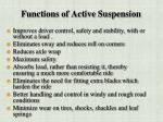 functions of active suspension