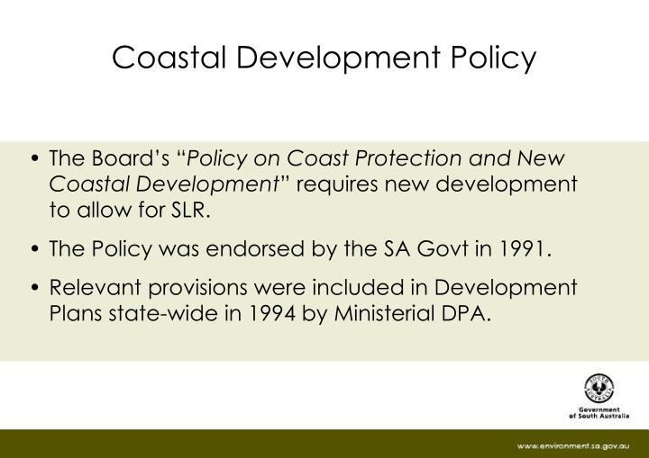 Coastal Development Policy