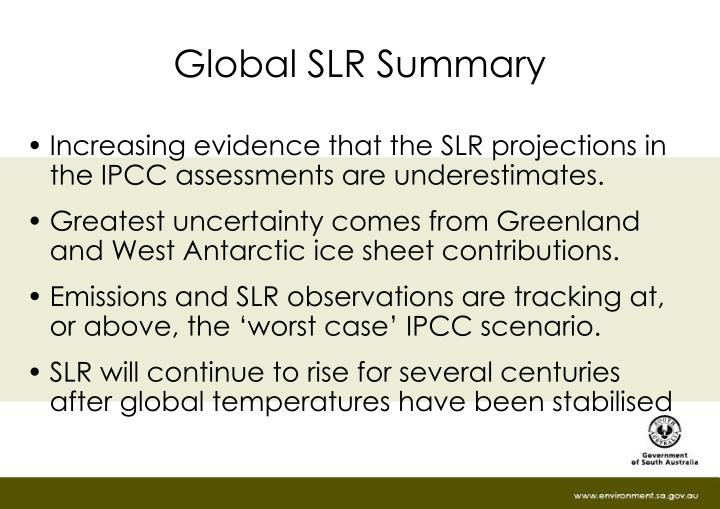 Global slr summary