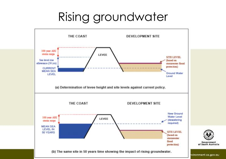 Rising groundwater