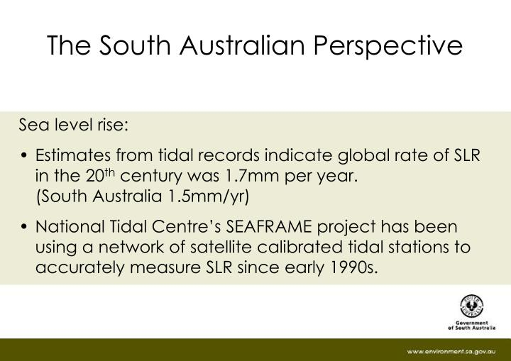The South Australian Perspective