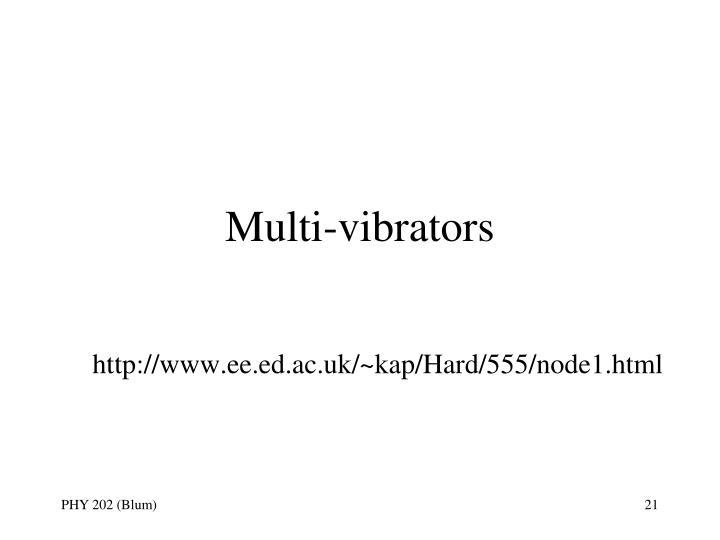 Multi-vibrators