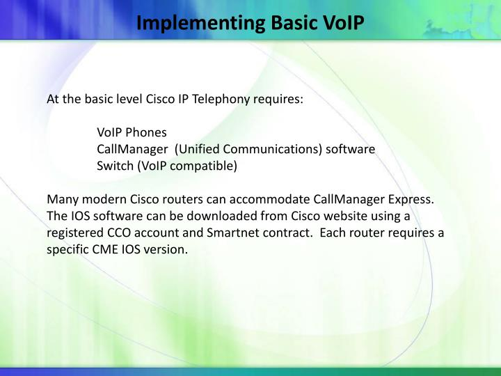 Implementing Basic VoIP