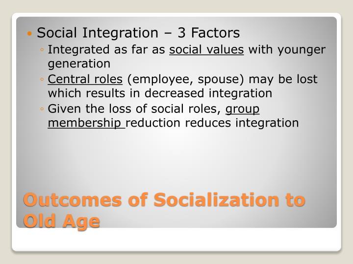 Social Integration – 3 Factors