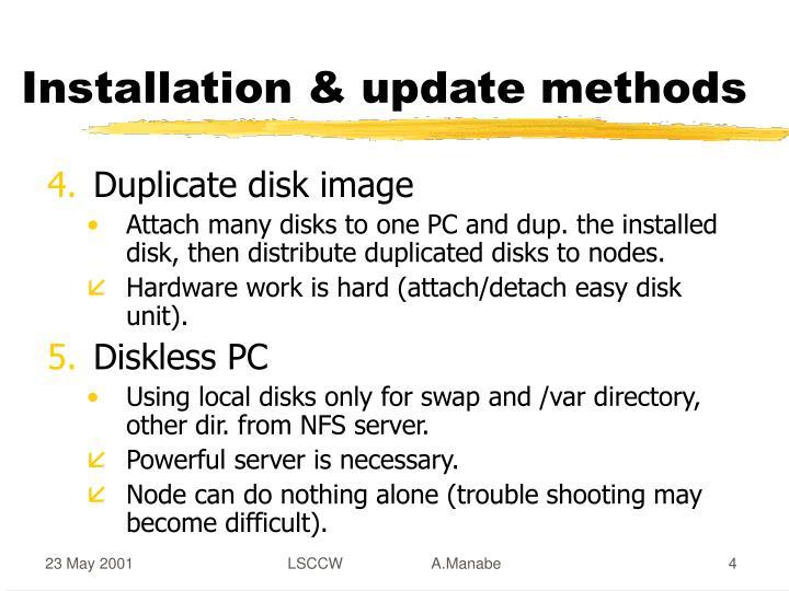 Installation & update methods