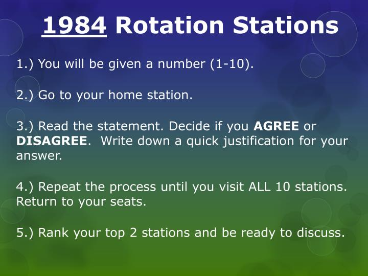 1984 rotation stations