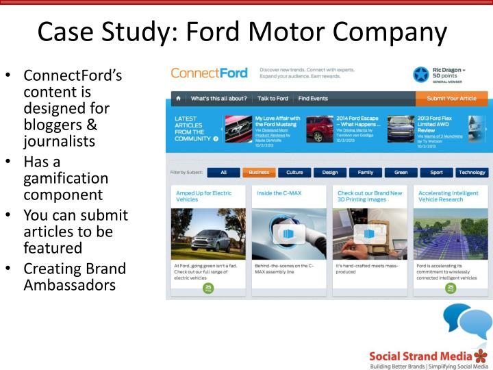 Case Study: Ford Motor Company