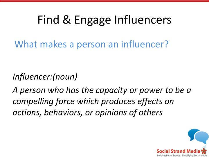 Find & Engage Influencers