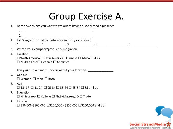 Group Exercise A.