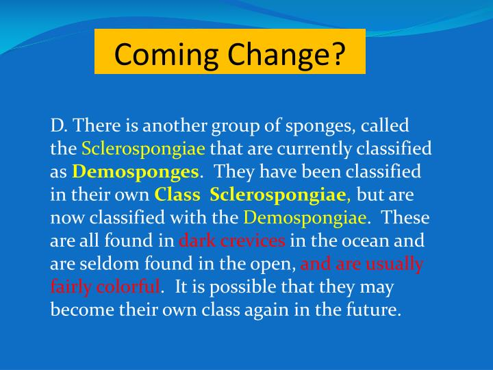 Coming Change?