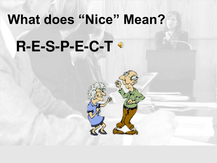 What does nice mean1
