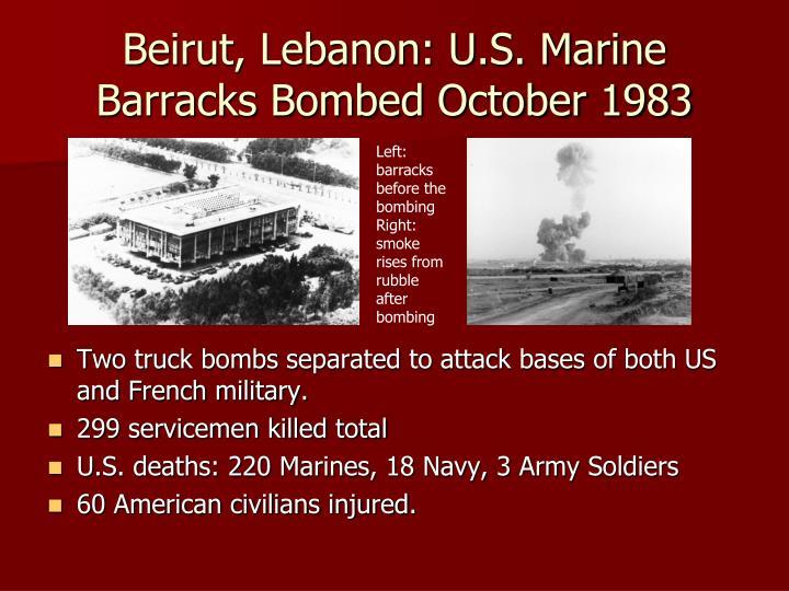 Beirut, Lebanon: U.S. Marine Barracks Bombed October 1983