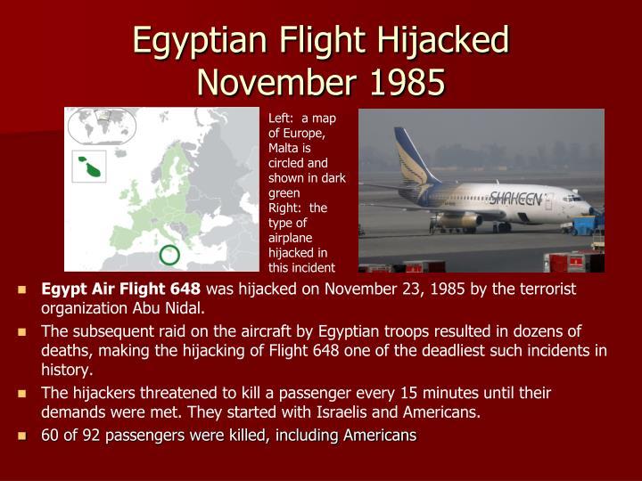 Egyptian Flight Hijacked
