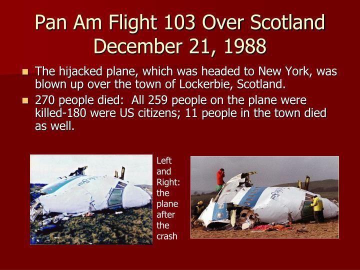 Pan Am Flight 103 Over Scotland