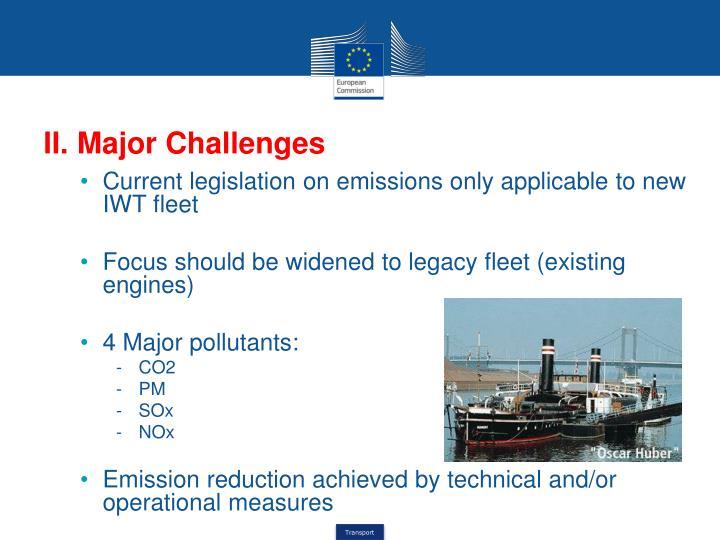 II. Major Challenges