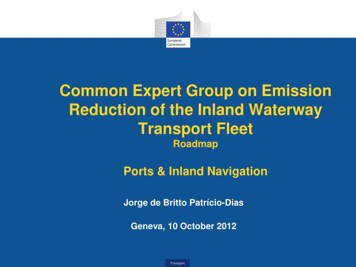 Common Expert Group on Emission Reduction of the Inland Waterway Transport Fleet
