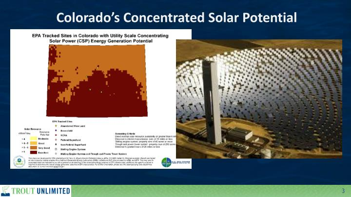 Colorado's Concentrated Solar Potential