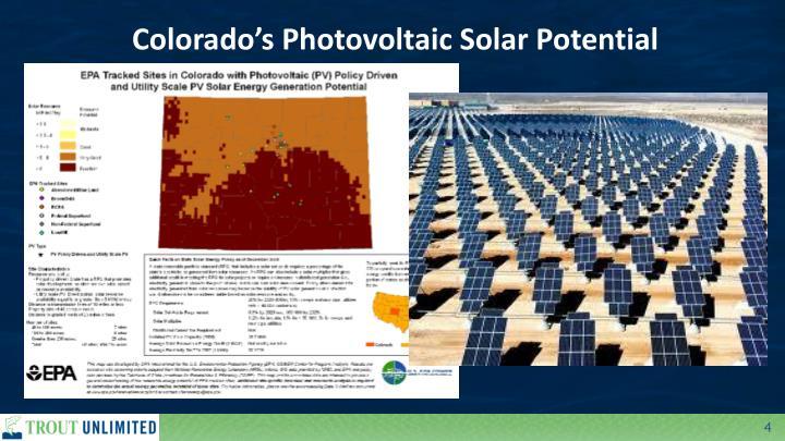 Colorado's Photovoltaic Solar Potential