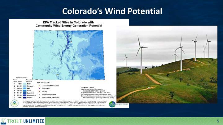 Colorado's Wind Potential