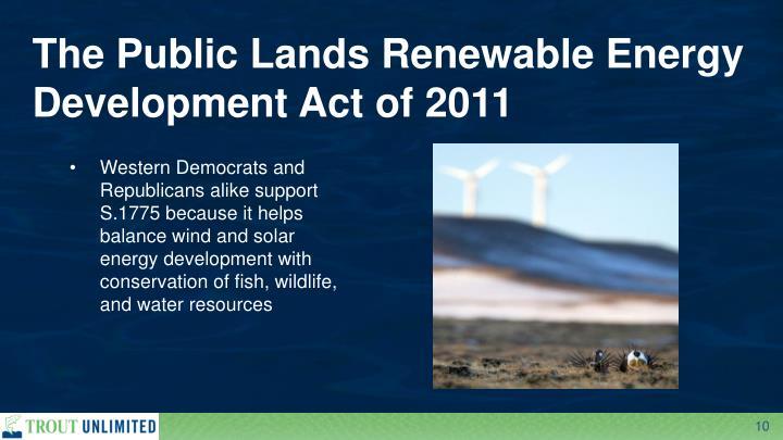 The Public Lands Renewable Energy Development Act of 2011