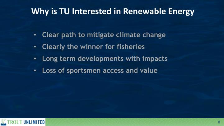 Why is TU Interested in Renewable Energy
